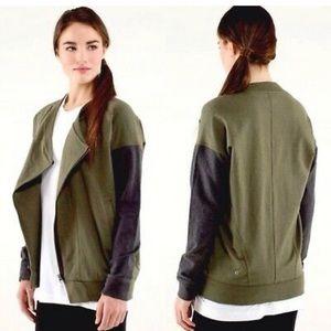 """Lululemon """"Mula bundle wrap"""" jacket"""